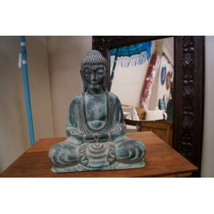 Fibre Resin Sitting Buddha