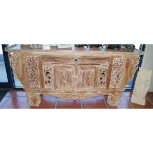 Boat Teak Carved Buffet