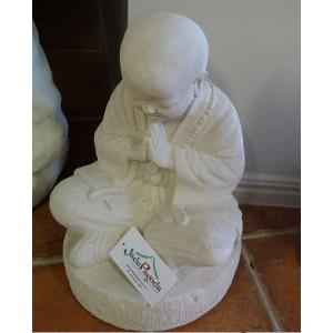 White Shaolin  Lime Stone Buddha Statue (40 cm)