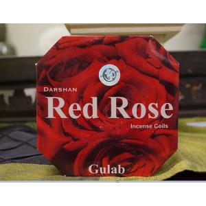 Darshan- Red Rose Incense Coils