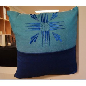 Blue Two Toned Cushion
