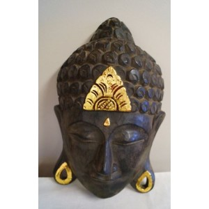 Small Balinese Buddha Mask (30 cm Tall)