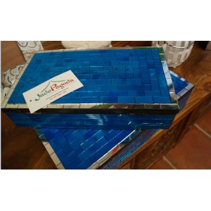 Blue  Mosaic Jewlery Box Set (0f 2)