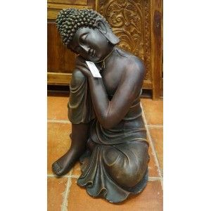 Brown Resin Garden Buddha - PRICE REDUCED!!!