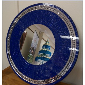 Ocean Blue Sparkle Mosaic Mirror