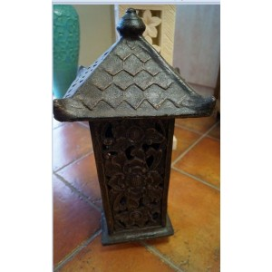 Dark Brown  Terracotta Garden Lantern