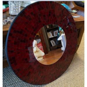 Red Sparkle  Mosaic Mirror
