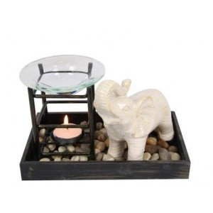 Elephant Oil Burner - White