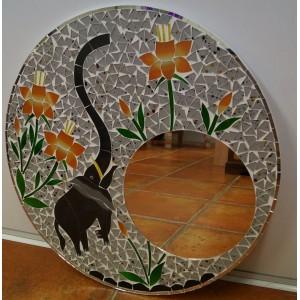 Orange  Elephant Mirror