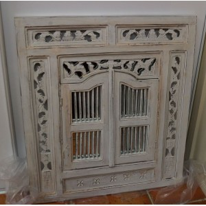 Medium  White Wash Prison Mirror