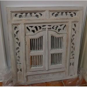 Medium  White Wash Prison Mirror