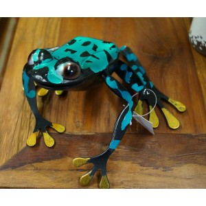 Blue Spotted Metal Frog