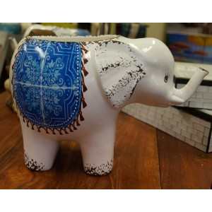 Blue Willow Elephant Pot