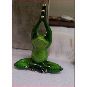 Green Marble Yoga Frog ( Cross Leg)