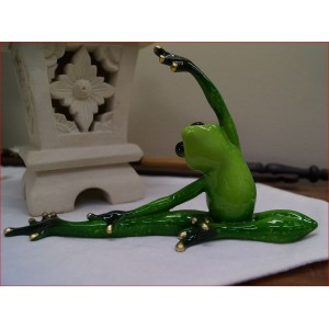 Green Marble Yoga Frogs ( Side bend)