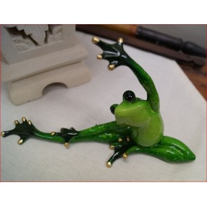 Green Marble Yoga Frog  (Package)