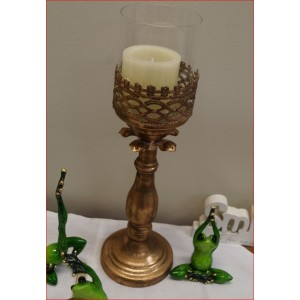 French Style Pillar Candle Holder- Candle Not Included